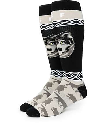 Neff Wolf Head Snowboard Socks