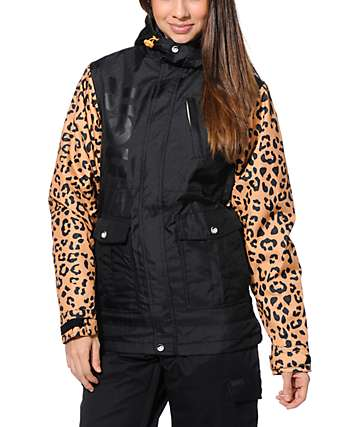 Neff Wonder Cheetah Print Black 10K Snowboard Jacket