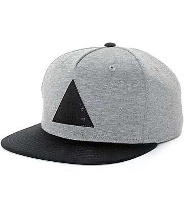 Neff X2 gorra snapback en gris y negro