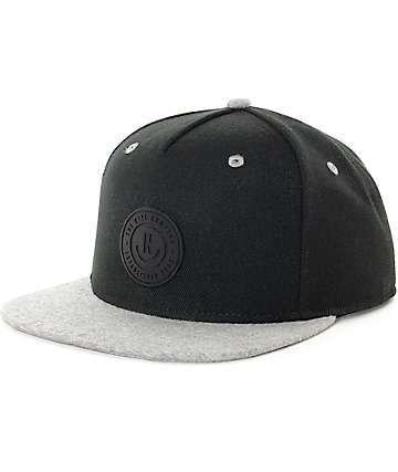 Neff XZ Black & Heather Grey Snapback Hat