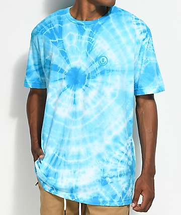 Neff Yeah Bro Blue Washed Tie Dye T-Shirt