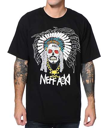 Neff x Aoki Chief Black T-Shirt