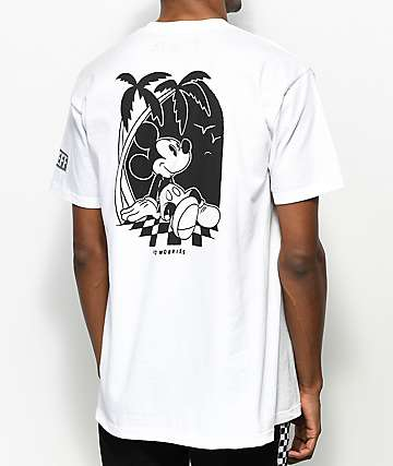 Neff x Disney Mickey No Worries White T-Shirt