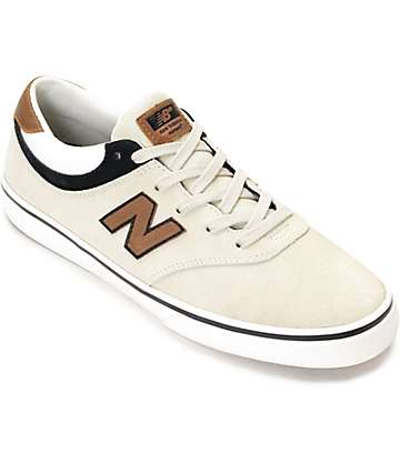 New Balance 254 Qunicy Stone, Black & Tan Shoes