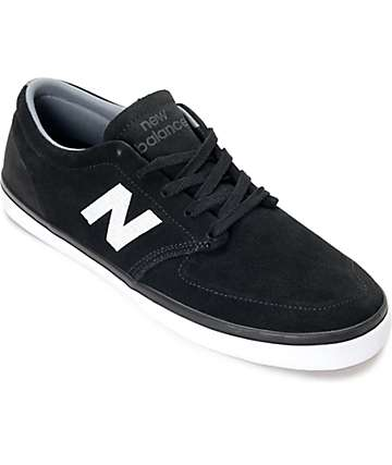 New Balance 345 Black & White Suede Shoes
