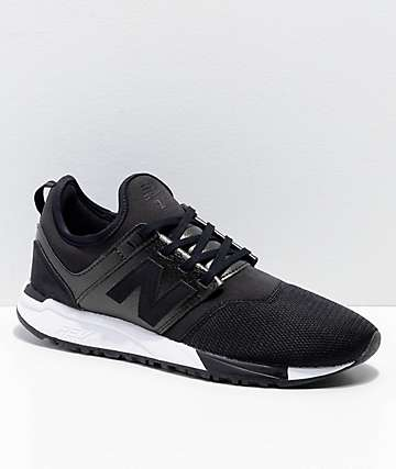 New Balance Numeric 247 Black & White Shoes