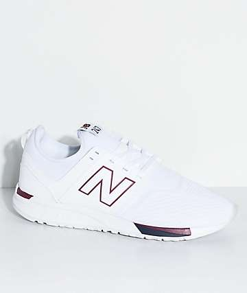 New Balance Numeric 247 Classic White & Burgundy Shoes