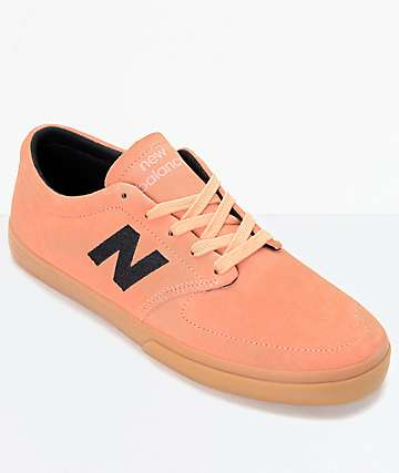 New Balance Numeric 345 Salmon & Black Suede Shoes