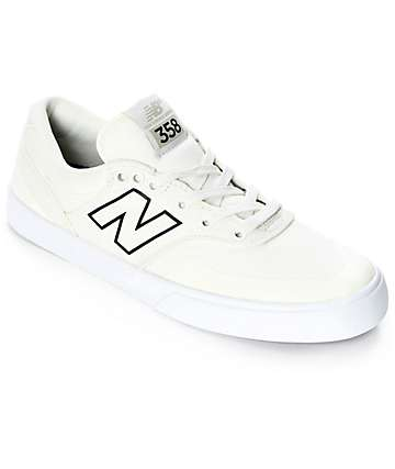 New Balance Numeric 358 Arto White & Black Shoes