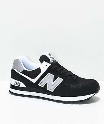 New Balance Numeric 574 Black & White Shoes