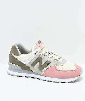 New Balance Numeric 574 Bone & Dusted Peach Shoes