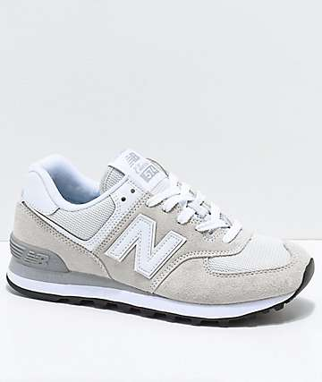New Balance Numeric 574 Off-White & White Shoes