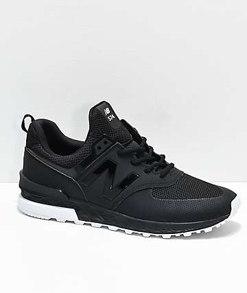 New Balance Numeric 574 Sport Black & White Shoes