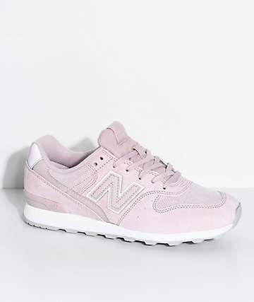New Balance Numeric 696 Faded Pink & Pink Sandstone Suede Shoes