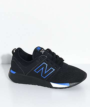New Balance Numeric Boys 247 Classic Omni Black & Blue Shoes
