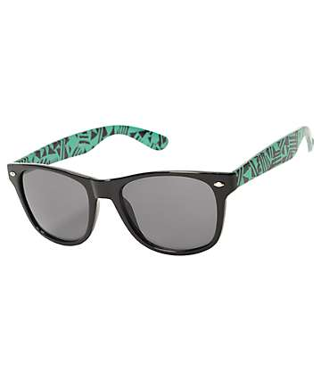 Newton Black & Teal Geo Sunglasses