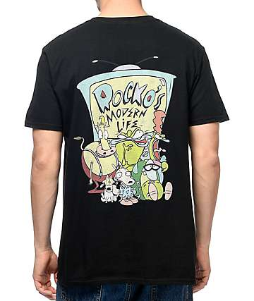Nickelodeon Rocko Squad Black T-Shirt