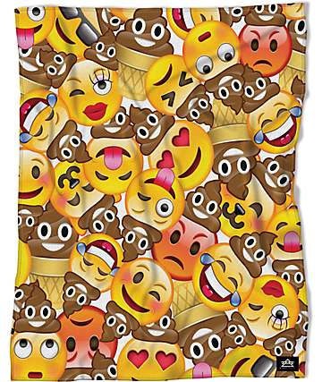 Night Shift Emoji Throw 50 x 60 Blanket