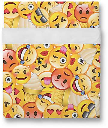 Night Shift Emoji Twin Sheet Set