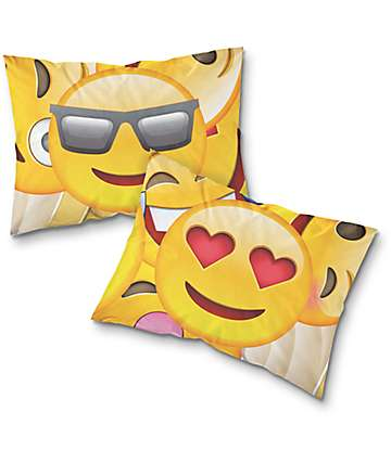 Night Shift Emoji conjunto de fundas de almohada