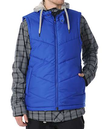 Nike 6.0 Bellevue Grey & Blue 10K Mens Snowboard Jacket