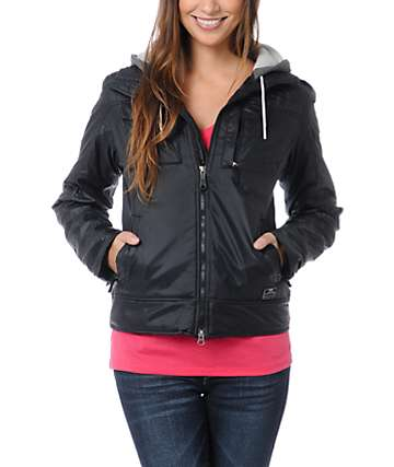 Nike Action Pearl Black Hooded Jacket