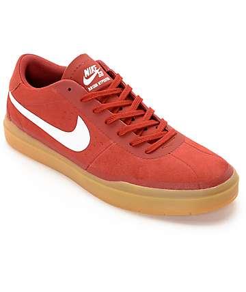 Nike Bruin Hyperfeel Cayenne & White Skate Shoes