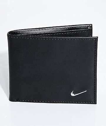 Nike Color Blocked Bi-Fold Black & Black Wallet