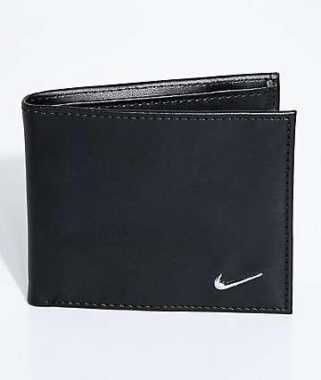 Nike Color Blocked Bi-Fold Black & Black Wallet