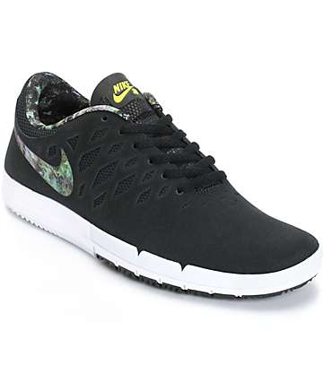 Nike Free SB Black & Gorge Green Shoes