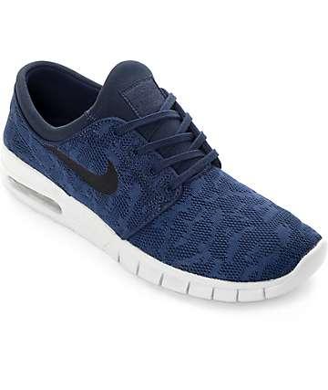 Nike Janoski Max Obsidian & Platinum Skate Shoes