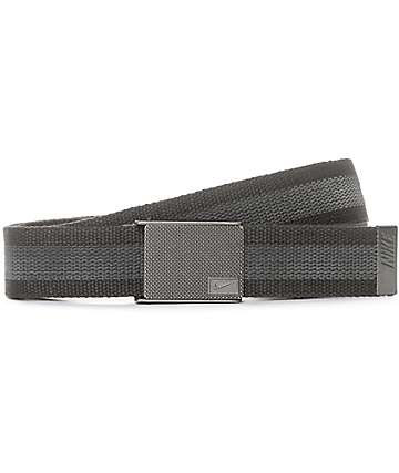 Nike Rubber Inlay Reversible Grey Web Belt