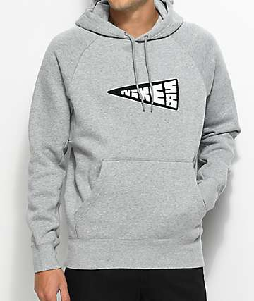 Nike SB Banner Icon sudadera gris con capucha