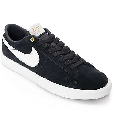 Nike SB Blazer Low GT Black & White Skate Shoes