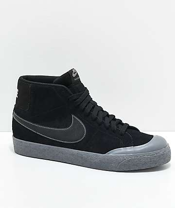 Nike SB Blazer XT Mid Black & Pewter Skate Shoes