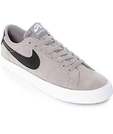 Nike SB Blazer Zoom zapatos de skate en gris y blanco