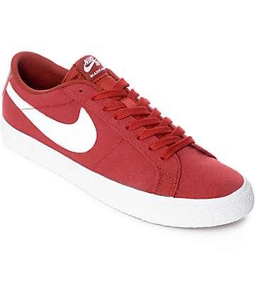 Nike SB Blazer Zoom zapatos de skate en rojo y blanco