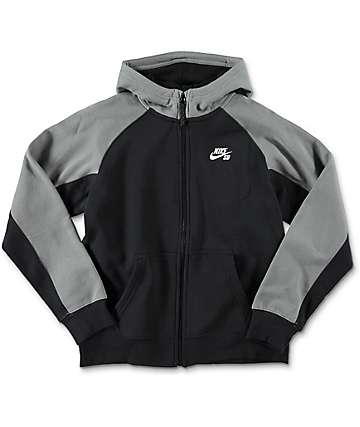 Nike SB Boys Everett Full Zip Black  Hoodie