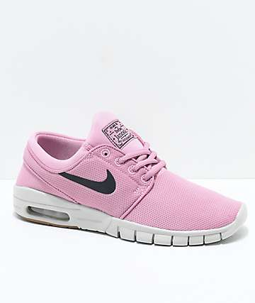 Nike SB Boys Janoski Air Max Elemental Pink Skate Shoes