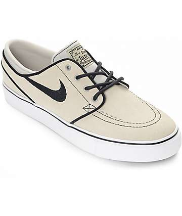 Nike SB Boys Janoski Pale Grey & White Suede Skate Shoes