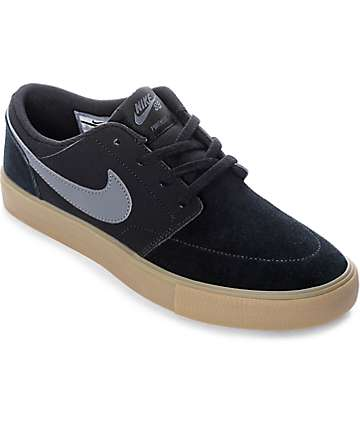 Nike SB Boys Portmore II Black, Grey & Gum Skate Shoes