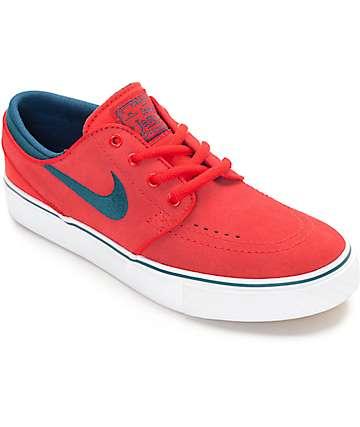 Nike SB Boys Zoom Stefan Janoski University zapatos de skate en rojo