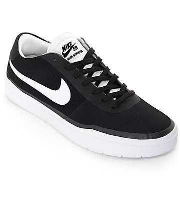 Nike SB Bruin Hyperfeel Black & White Skate Shoes