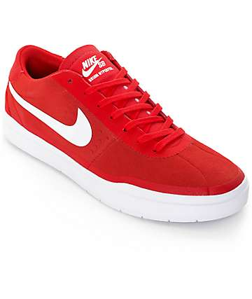 Nike SB Bruin Hyperfeel University Red & White Skate Shoes