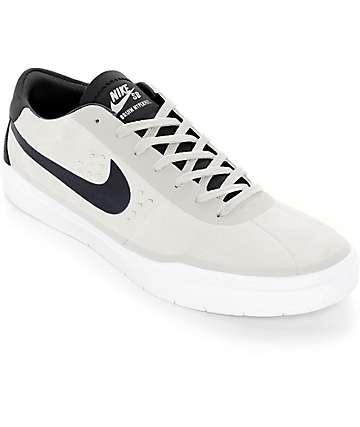 Nike SB Bruin Hyperfeel zapatos de skate en blanco cumbre y negro