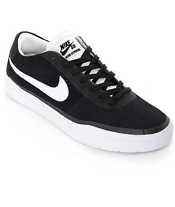 Nike SB Bruin Hyperfuul zapatos de skate blancos y negros