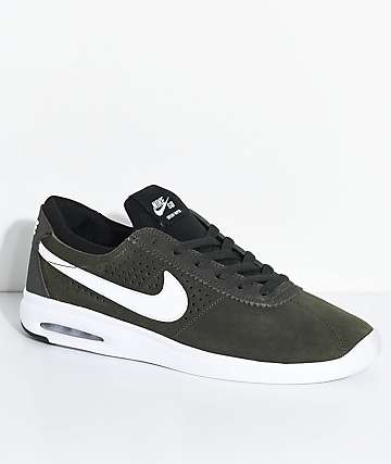 Nike SB Bruin Vapor Air Max Sequoia & White Skate Shoes