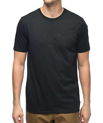 Nike SB Debossed Logo Dri-Fit Black T-Shirt