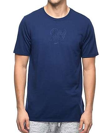 Nike SB Debossed Logo Dri-Fit camiseta en azul marino