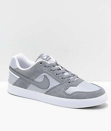 Nike SB Delta Force Cool Grey zapatos de skate en gris y blanco